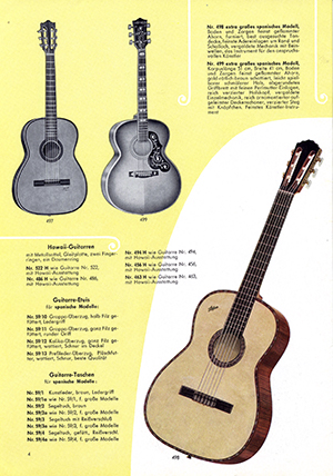 Hofner catalogue 1957